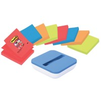 Post-it Z-Notes Dispenser 76 x 76 mm Blauw, wit 8 Stuks à 90 Vellen
