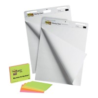 Post-it Flipoverblokken BP206 A1 Blanco 70 g/m² Wit 2 Stuks à 30 Vellen