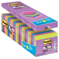 Post-it Super Sticky Notes 76 x 76 mm Kleurenassortiment 24 Stuks à 90 Vellen