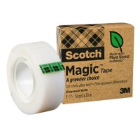 Scotch Magic A Greener Choice Tape Plakband Onzichtbaar mat 19 mm x 30 m