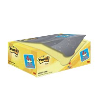 Post-it Notes 127 x 76 mm Canary Yellow Geel 100 Vellen Voordeelpak 16 + 4 GRATIS