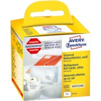 AVERY Zweckform Multifunctionele etiketten AS0722440 54 x 70 mm Wit 320 Stuks