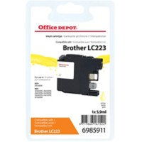 Office Depot Compatibel Brother LC223Y Inktcartridge Geel