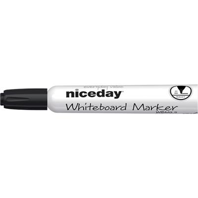 Niceday WBM2.5 Whiteboard Marker Medium Ronde Punt Zwart