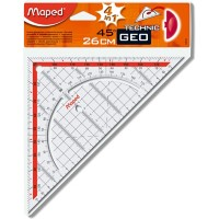 Maped Geodriehoek Plastic 26 cm Transparant