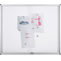 Bi-Office Memobord voor wandmontage Vergrendelbaar Exhibit Indoor 202.6 x 96,7 cm Wit