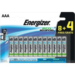 Energizer Batterijen Eco Advanced AAA 12 Stuks