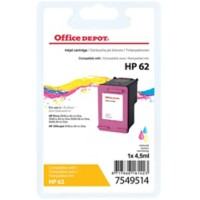 Office Depot Compatibel HP 62 Inktcartridge C2P06AE 3 kleuren