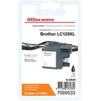 Office Depot Compatibel Brother LC129XL Inktcartridge Zwart
