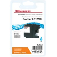 Office Depot Compatibel Brother LC125XL Inktcartridge Cyaan