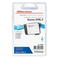 Office Depot Compatibel Epson 27XL Inktcartridge T271240 Cyaan