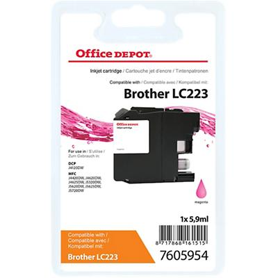 Office Depot Compatibel Brother LC223M Inktcartridge Magenta