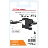 Office Depot Compatibel Brother LC123 Inktcartridge Zwart
