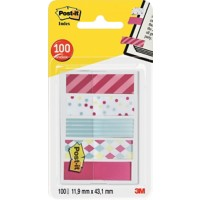 Post-it Candy Collection Indexen Kleurenassortiment 11,9 x 43,2 mm 20 Vellen