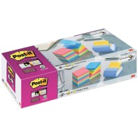 Post-it Z-Note Pro Sticky Note Dispenser Blauw Niet geperforeerd 53 x 113 mm