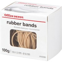 Office Depot Elastieken 1,5 x 80mm Ø 50mm Naturel 100g