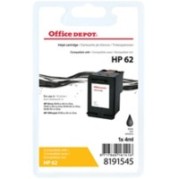 Office Depot Compatibel HP 62 Inktcartridge C2P04AE Zwart