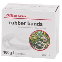Office Depot Elastieken 1,5 x 120mm Ø 120mm Kleurenassortiment 100g