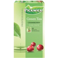 Pickwick Green Tea Cranberry Thee 25 Stuks à 1.5 g