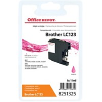 Office Depot Compatibel Brother LC123M Inktcartridge Magenta