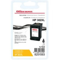 Office Depot Compatibel HP 302XL Inktcartridge F6U68AE Zwart