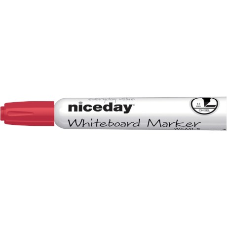 Niceday WCM1-5 Whiteboardmarker Beitel Rood