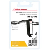 Office Depot Compatibel HP 934XL Inktcartridge C2P23AE Zwart