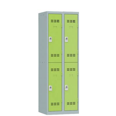 Pierre Henry Locker 2 Deur 2 Vakken Grijs, lime 600 x 500 x 1.800 mm