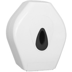 Jumbo toiletroldispenser Mini ABS kunststof Wit