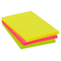 Office Depot Extra Sticky Notes 101 x 150 mm Neon magenta, geel, groen 3 Stuks à 90 Vellen