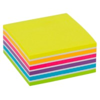 Office Depot Zelfklevende notes Kubus 76 x 76 mm Kleurenassortiment Neon 400 Vellen