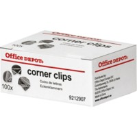 Office Depot Hoek Clips 17mm Zilver Pak van 100