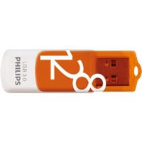 Philips USB-stick Vivid Swivel 128 GB Oranje, wit