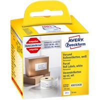 AVERY Zweckform Adresetiketten AS0722430 54 x 101 mm Wit 220 Stuks