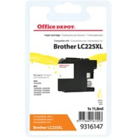 Office Depot Compatibel Brother LC225XL Inktcartridge Geel
