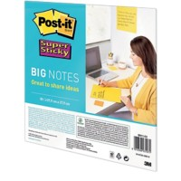 Post-it Big notes Super Sticky Speciaal Blanco 95 g/m² Geel 27,9 x 27,9 cm
