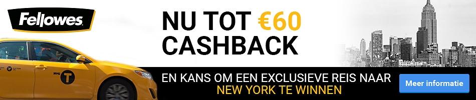 Nu tot €60 Cashback en kans om een exclusieve reis naar New York te winnen