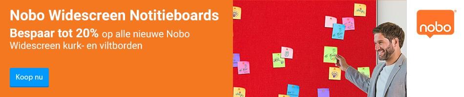 Nobo Widescreen Notitieboards. Bespaar tot 20% op alle nieuwe Nobo Widescreen kurk- en viltborden