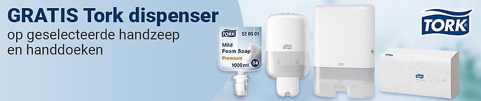 GRATIS Tork dispenser op geselecteerde handzeep en handdoeken