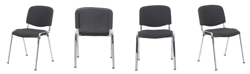 Niceday Bezoekersstoel ISO 4 Stuks