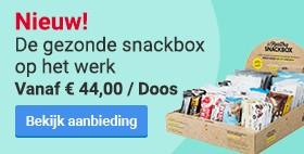 Nieuw! De gezonde snackbox op het werk. Vanaf € 44,00 / Doos