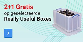 2+1 Gratis op geselecteerde Really Useful Boxes